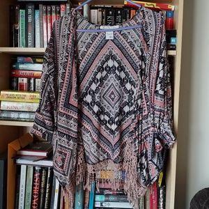 Boho southwestern shawl